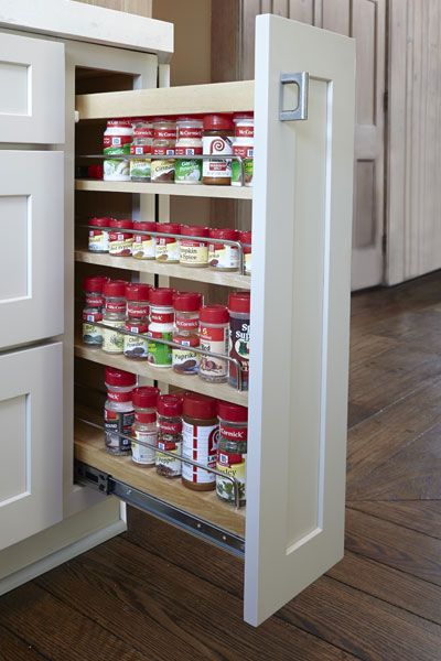 Base Pull Out Storage Cabinet With Three Shelves Storing