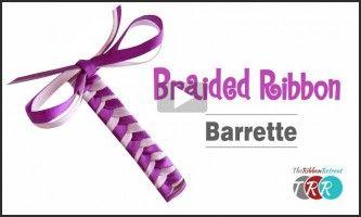 Braided Ribbon Barrette, YouTube Video