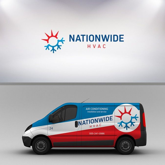 Create A Logo And Business Card For Nationwide Hvac Corp By Bryan