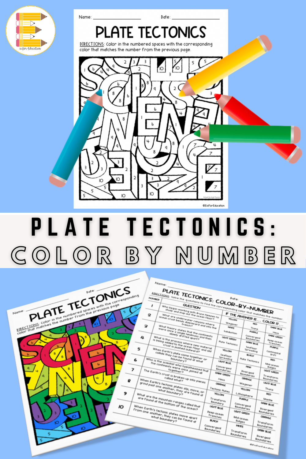 Plate Tectonics Color By Number Plate Tectonics Middle School Plate Tectonics Earth Science Middle School [ 1500 x 1000 Pixel ]