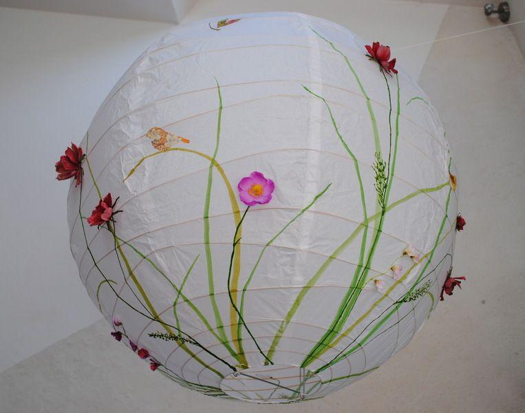 Lampions Kinderzimmer ~ Papier lampe wiesenblumen xxl kinderzimmer lampenschirme und