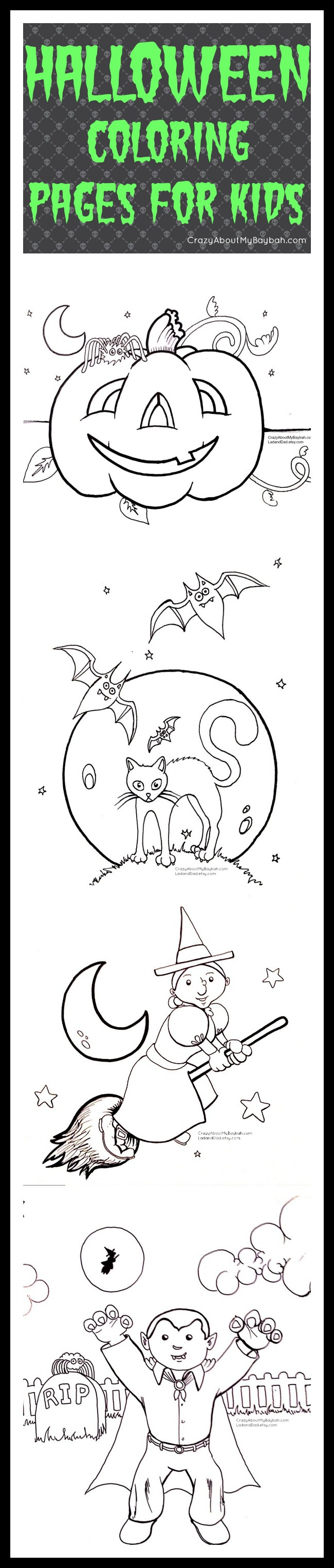free printable halloween coloring pages for kids printables