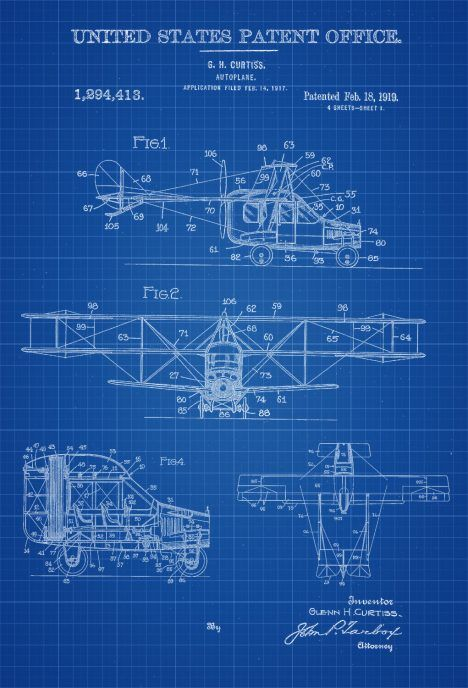 Flying car patent vintage airplane airplane blueprint airplane they dreamed of flying cars all the way back in this is actually a patent for a flying car or autoplane as it is called in the patent itself malvernweather Images