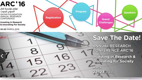 الكشف عن أفضل مشروع بحثي وأفضل ابتكار خلال مؤتمر مؤسسة قطر السنوي للبحوث 2016