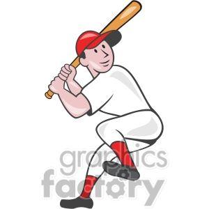 Baseball Batter Batting Leg Up Clipart Royalty Free Clipart
