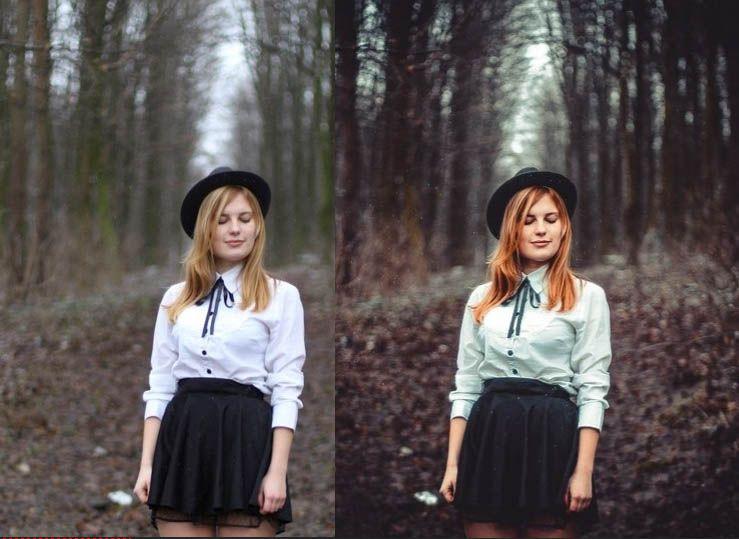 фотографии девушек в лесу