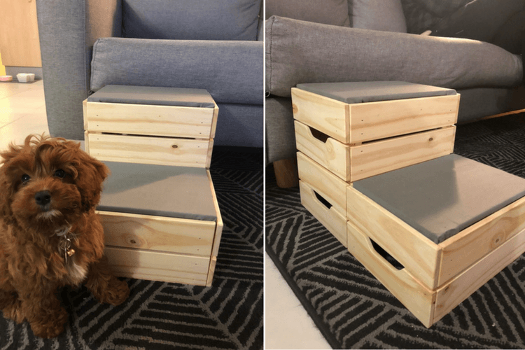 Small Dog Diy These Dog Steps From Ikea Crates Ikea Dog Diy