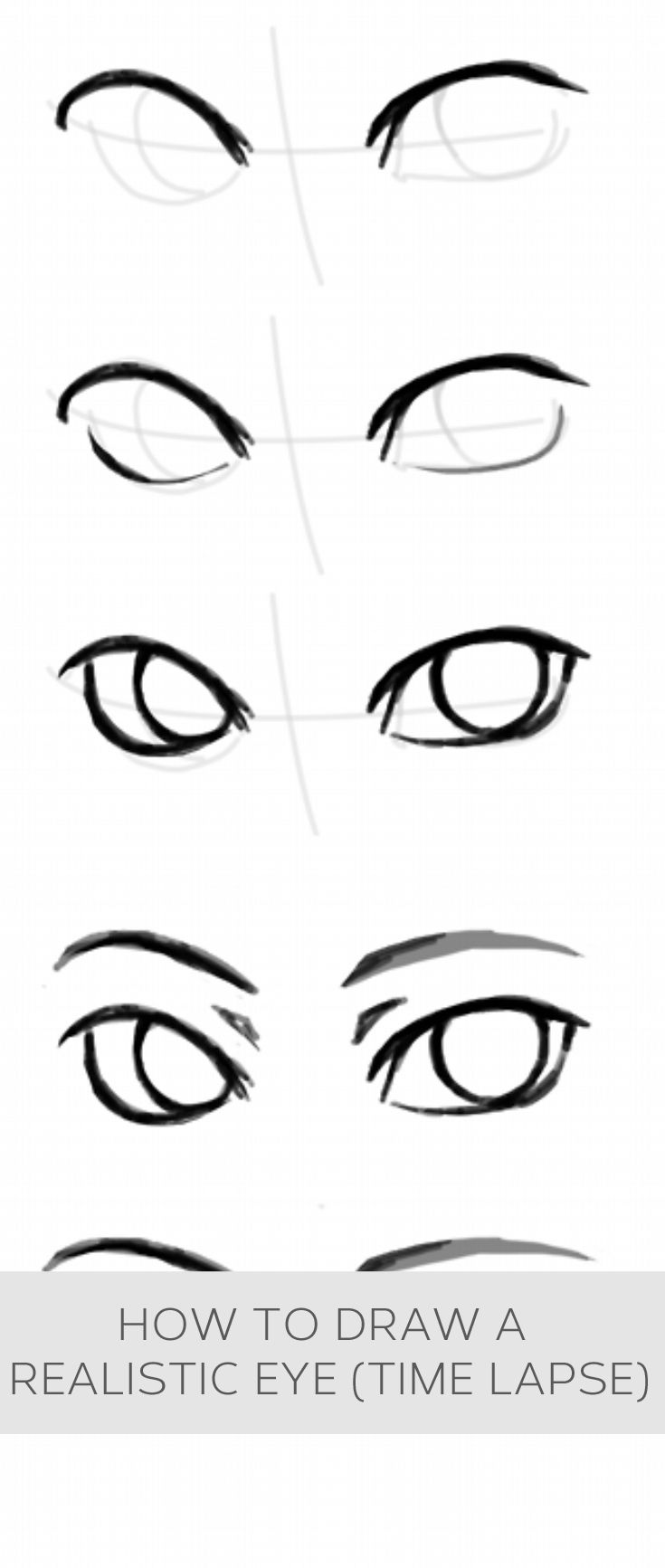 How To Draw A Realistic Eye Time Lapse Howto Helpful Useful Tips Advice Drawing People Sketches Drawings