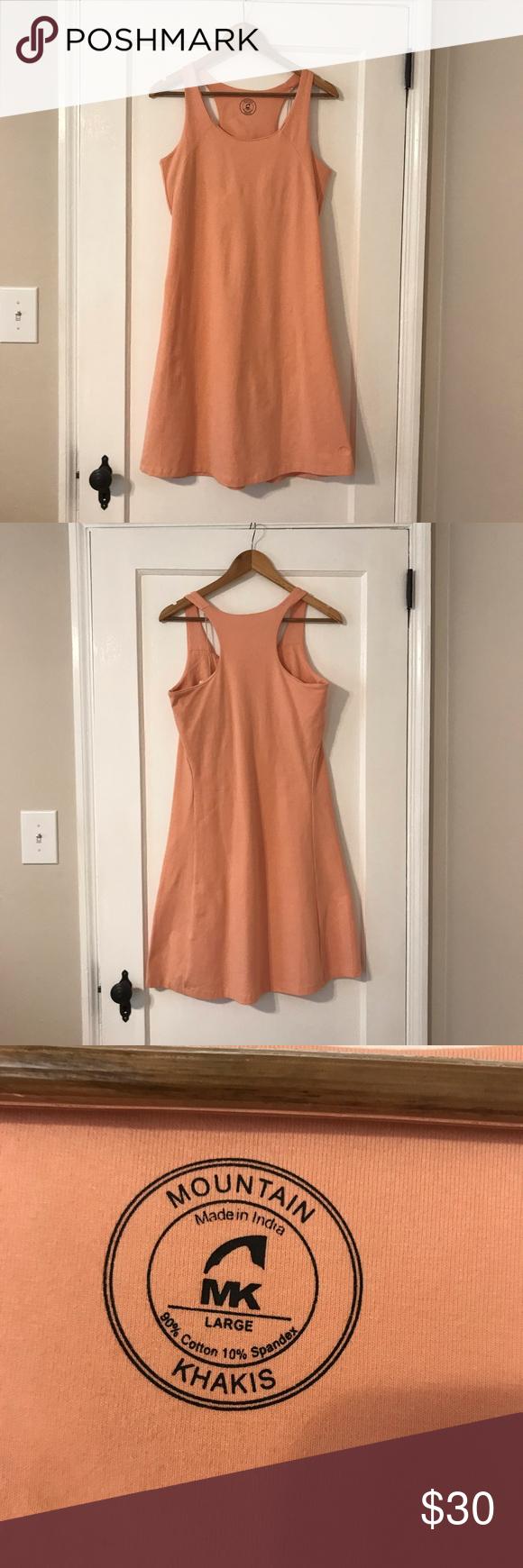 Mountain Khaki Tank Dress W Built In Bra Lg Khaki Dress Dresses Tank Dress [ 1740 x 580 Pixel ]