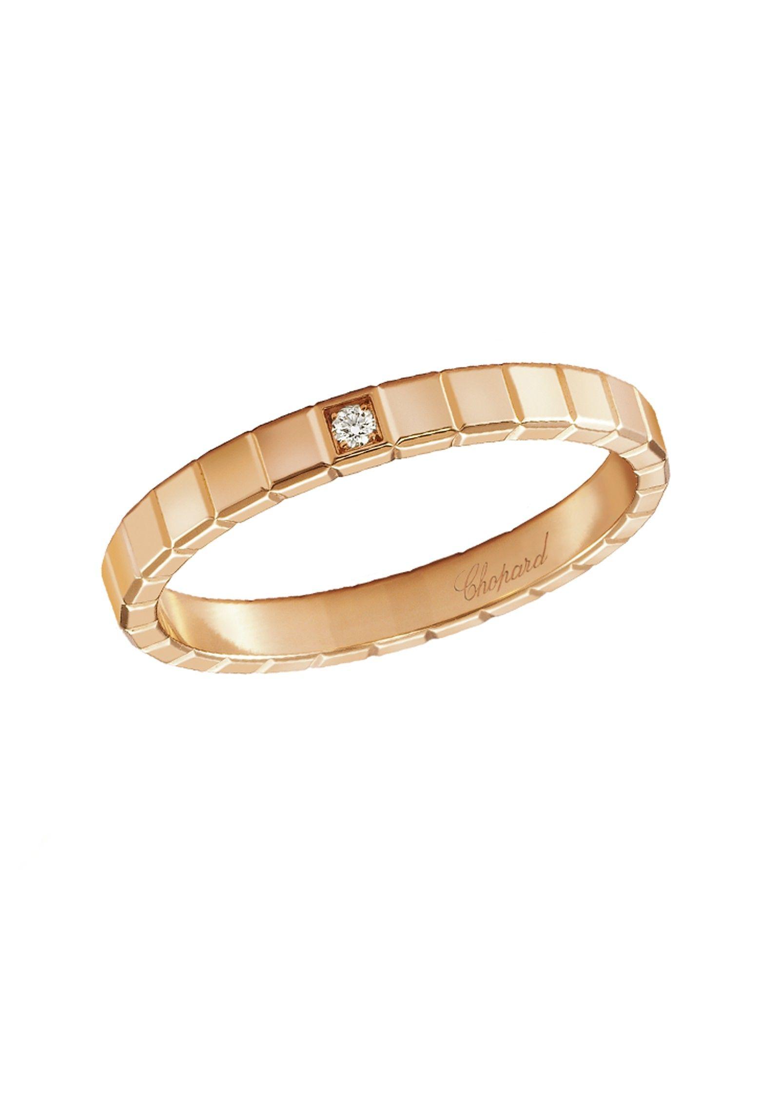 Fa§onnée en or rose étincelant 18 carats la forme géométrique