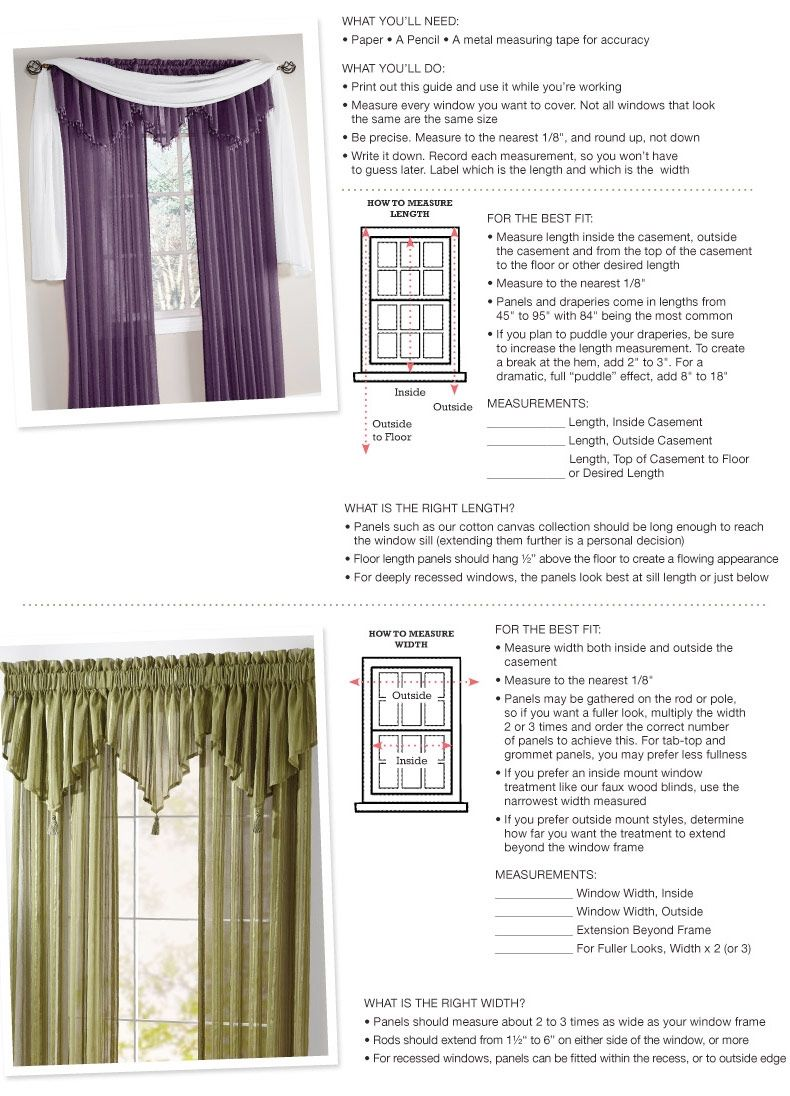 Window Curtain Size Guide