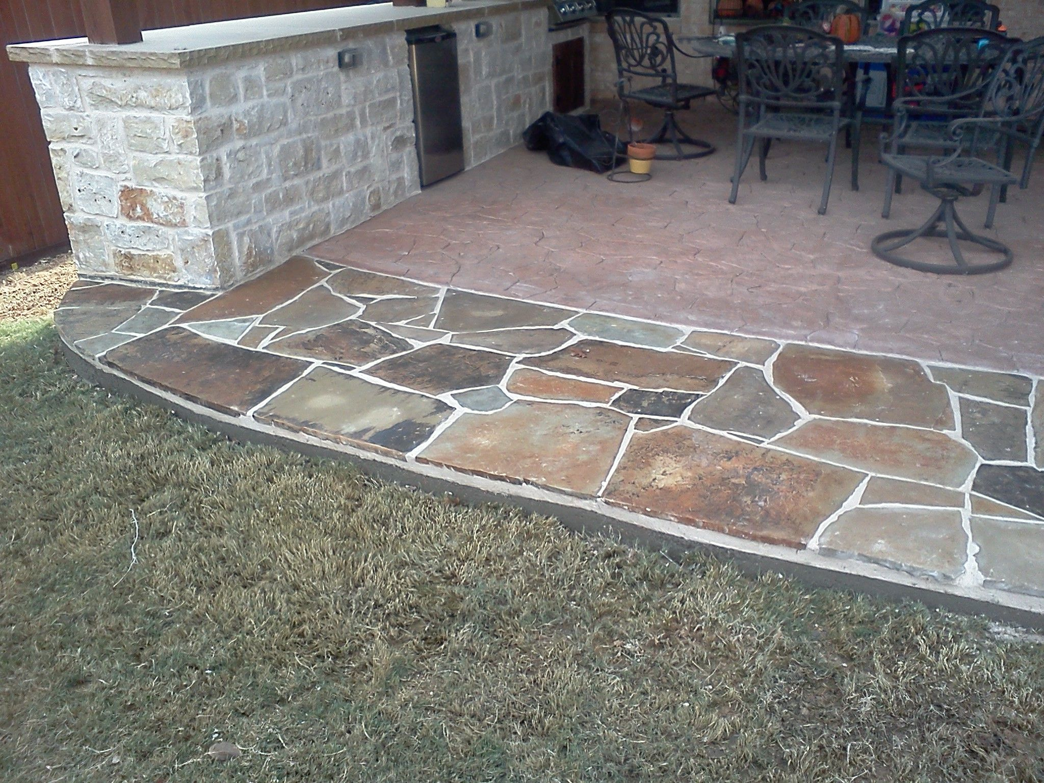 Trophy Club Texas Flagstone Patio Extension By www ... on Back Patio Extension Ideas id=58043
