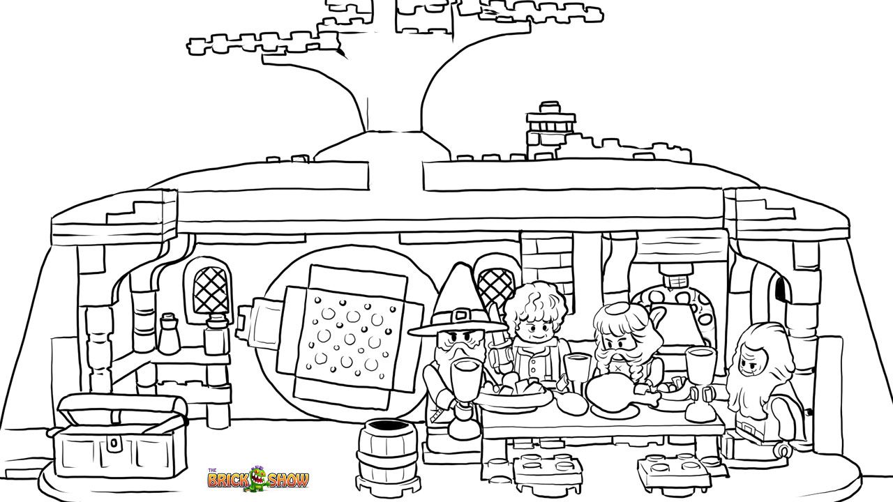 Lego Hobbit Coloring Page Lego Lego The Unexpected Gathering