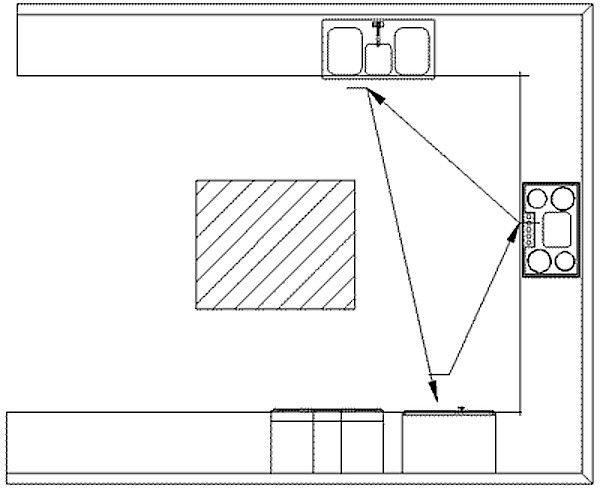 U Shaped Kitchen Layout Diagram Remodelista Kitchens Pinterest Kitchens Beach Condo And