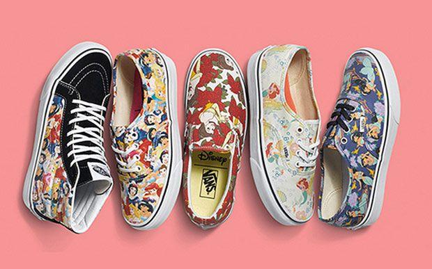 db12b538019 Vem conhecer a coleção da Vans com estampas das princesas da Disney ...