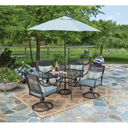 Find this Pin and more on Patio Furniture. Living Accents ... - Living Accents Addison 5 Piece Dining Set - Ace Hardware Patio