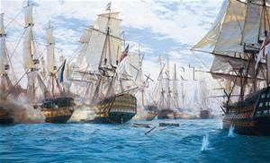 Battle of Trafalgar, Steven Dews Reproduktion & Kunstdrucke bei ...