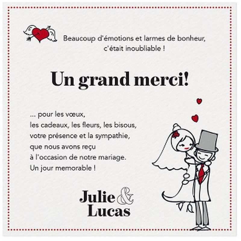 Texte Remerciement Mariage Original Carte De Remerciement