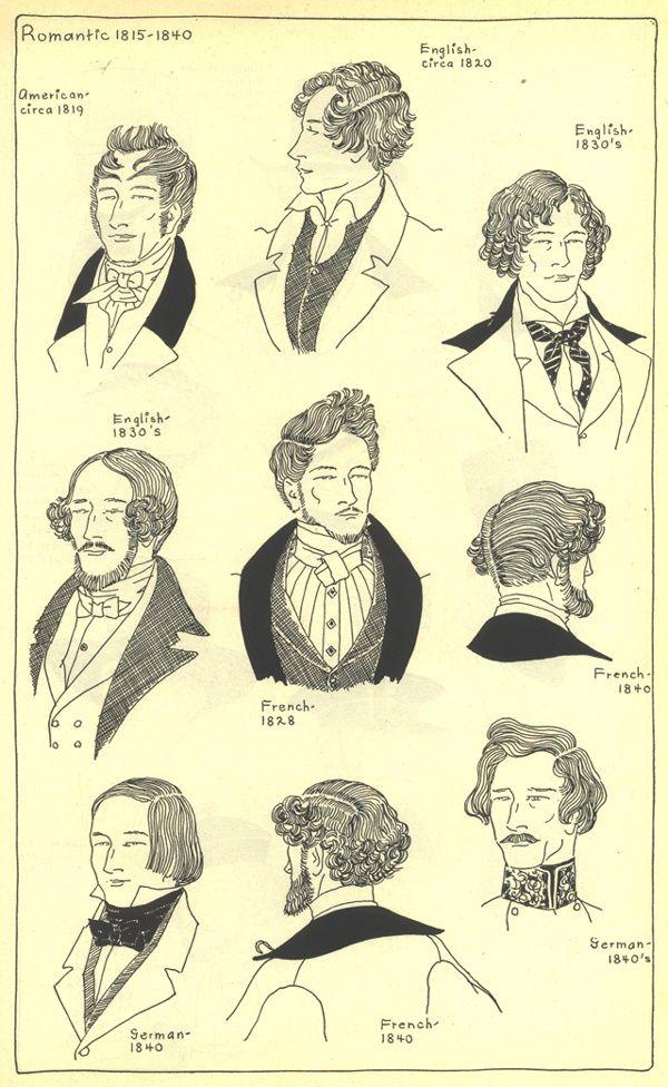 Captivating Romantic 1815 1840 Manu0027s Hairstyles