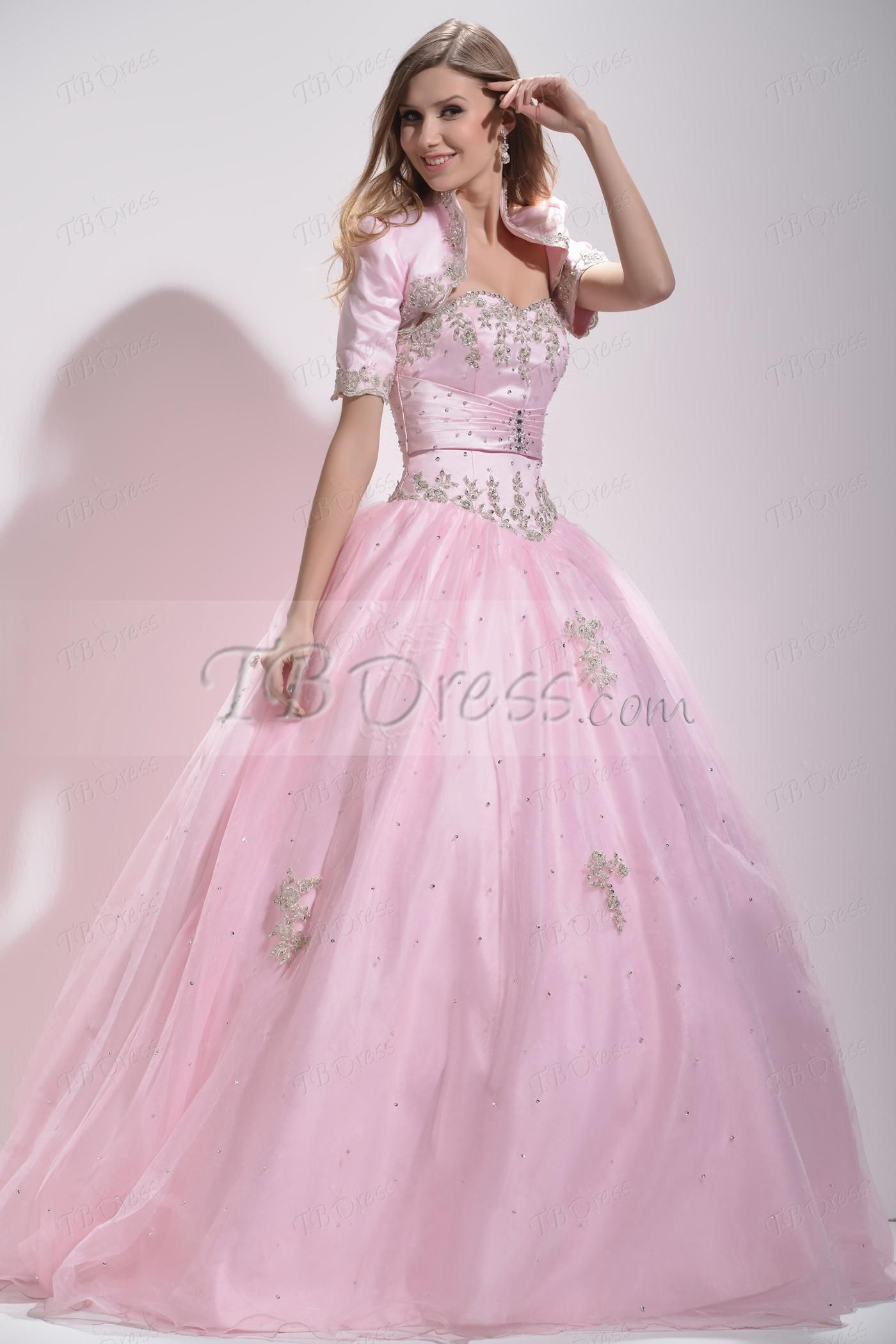 Ball Gown Sweetheart Beading Long Quinceanera Dress   Amazing Gowns ...