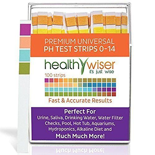 100Count Expert Popular pH Tester Strips Results in Seconds Universal Application Saliva and Urine Range 014pH with Color Chart >>> Details can be found by clicking on the image.