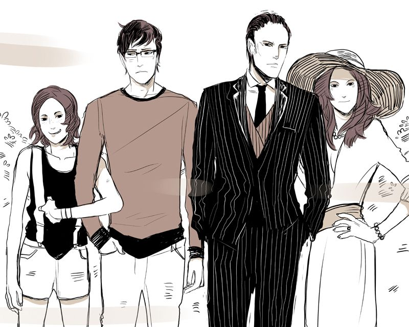 Stephen S Family Photo London Artwork Cassandra Jean Fan Art