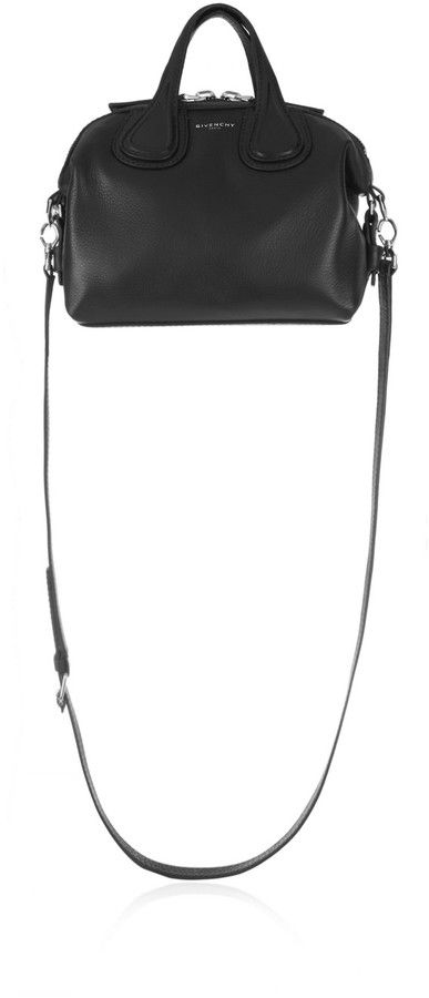 eb9a59cadf Givenchy Micro Nightingale Shoulder Bag in Black Textured-Leather -   1