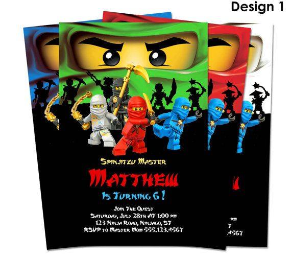 Ninjago Einladung Geburtstag Party Druckbare Von LCDesigns615, $8.00