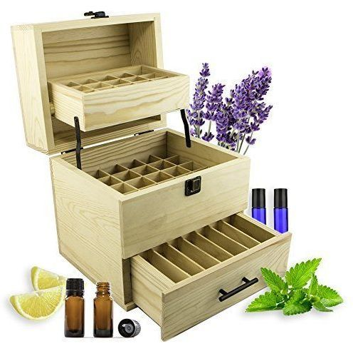 This Deluxe Wooden 3-Tier Essential Oils Storage Box is perfect for travel and presentations for your business... Or just to keep your oils safe around the house. Holds and protects 59 Essential Oil b