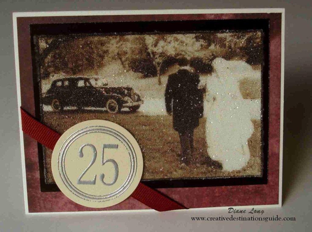 Beaded th anniversary card creative destinations guide diane
