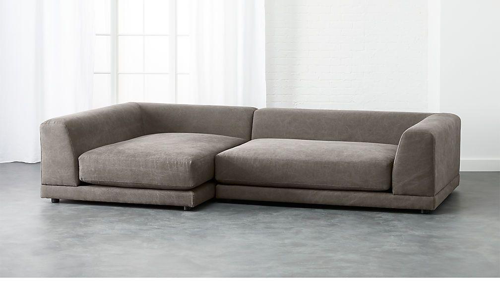 Uno 2 Piece Sectional Sofa Reviews Cb2 2 Piece Sectional Sofa Modern Sofa Sectional Sectional Sofa