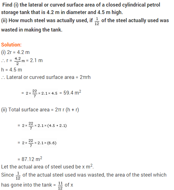 NCERT solutions for class-9 maths chapter-13 surface areas and ...