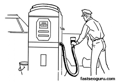 Printable Gas Station Coloring Pages Printable Coloring Pages For Kids Free Kids Coloring Pages Coloring Pages Coloring Pages For Kids