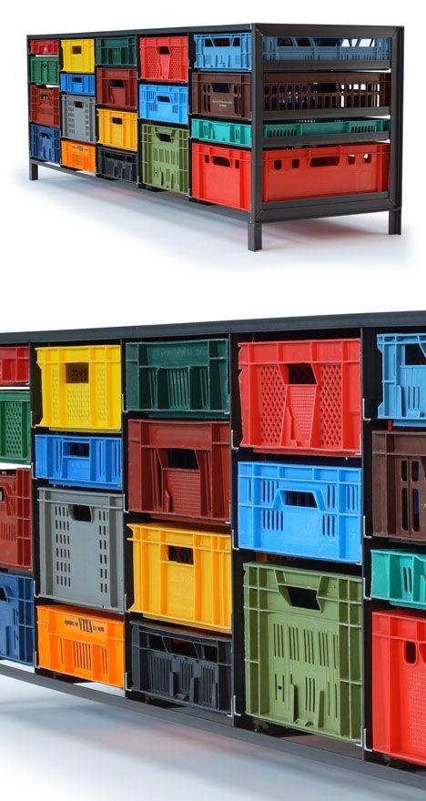 "Great for organizing disc golf supplies. Mark van der Gronden's Krattenkast (""crate ..."