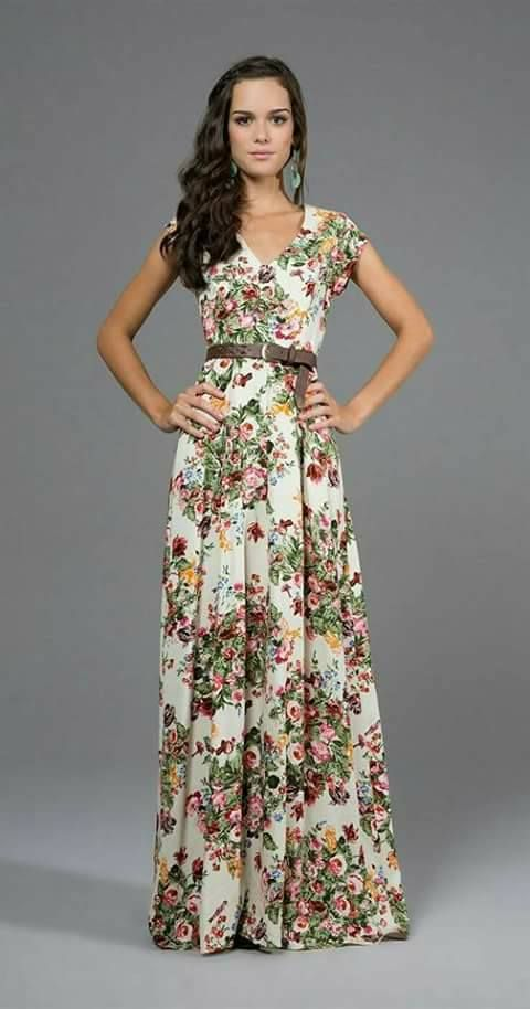 77ad80510e555 30 Maxi vestidos que puedes usar en tus vacaciones  http   beautyandfashionideas.com