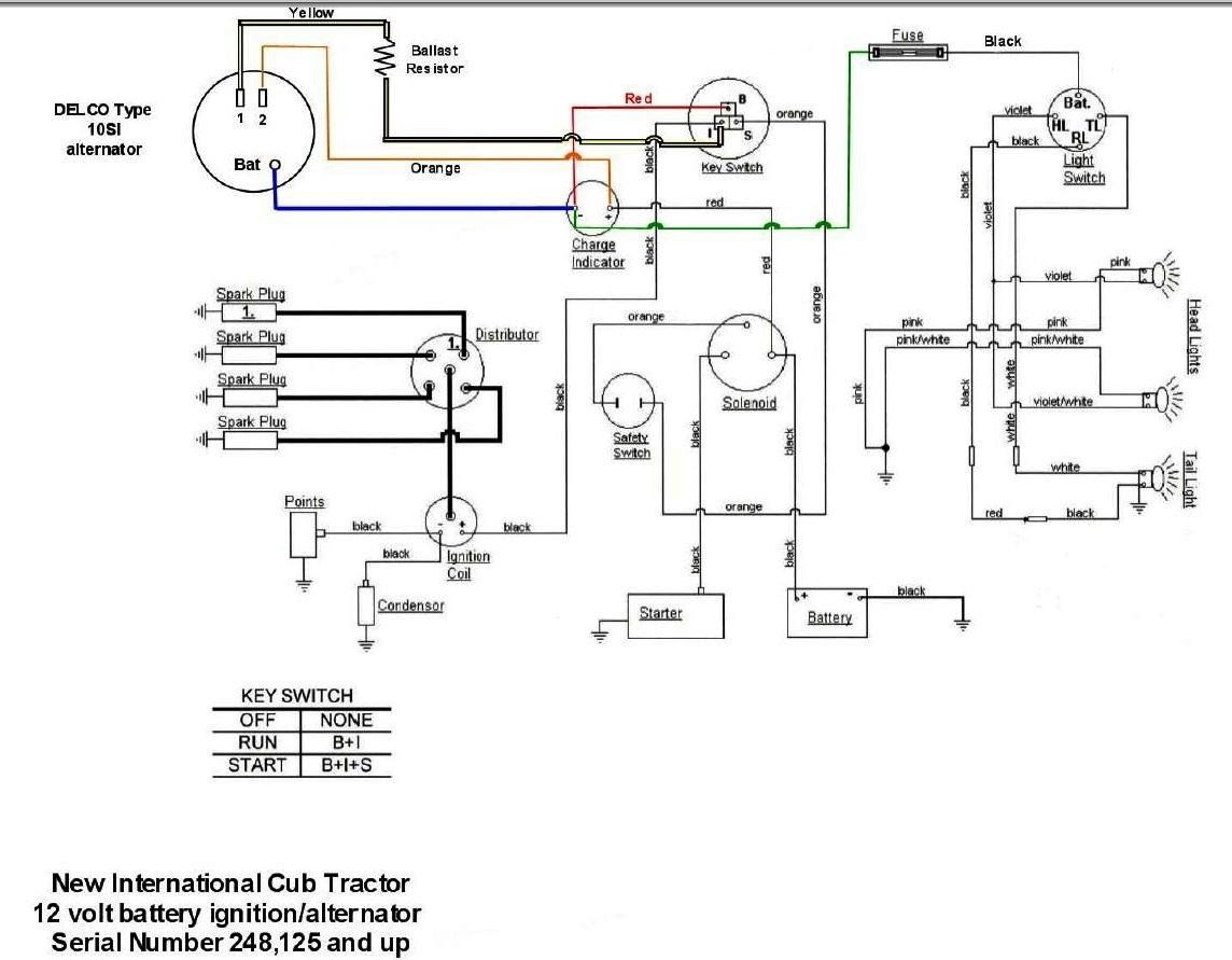 basic wiring diagram for all garden tractors using a stator and b275 international  tractor wiring diagram