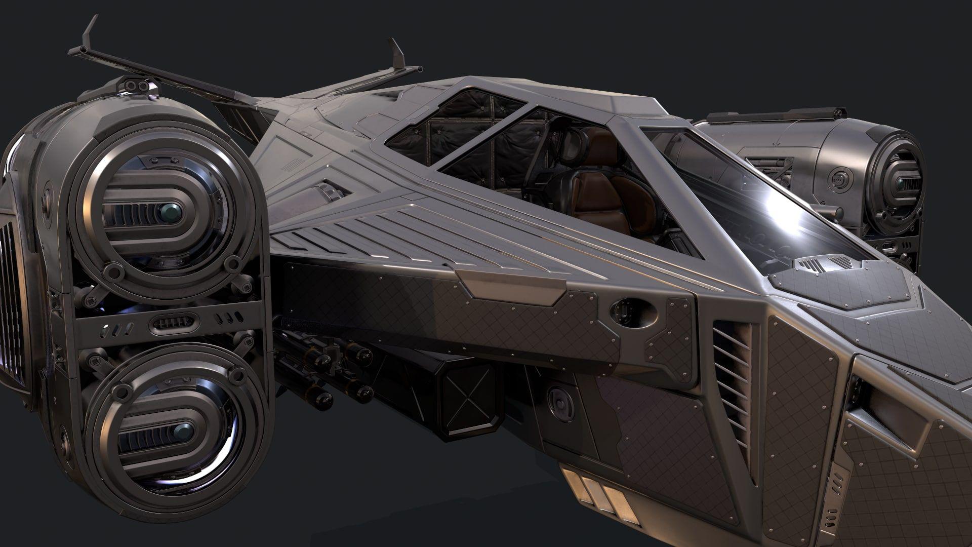 Sci Fi Spaceship 3d Model Spaceship 3d Model 3d Model