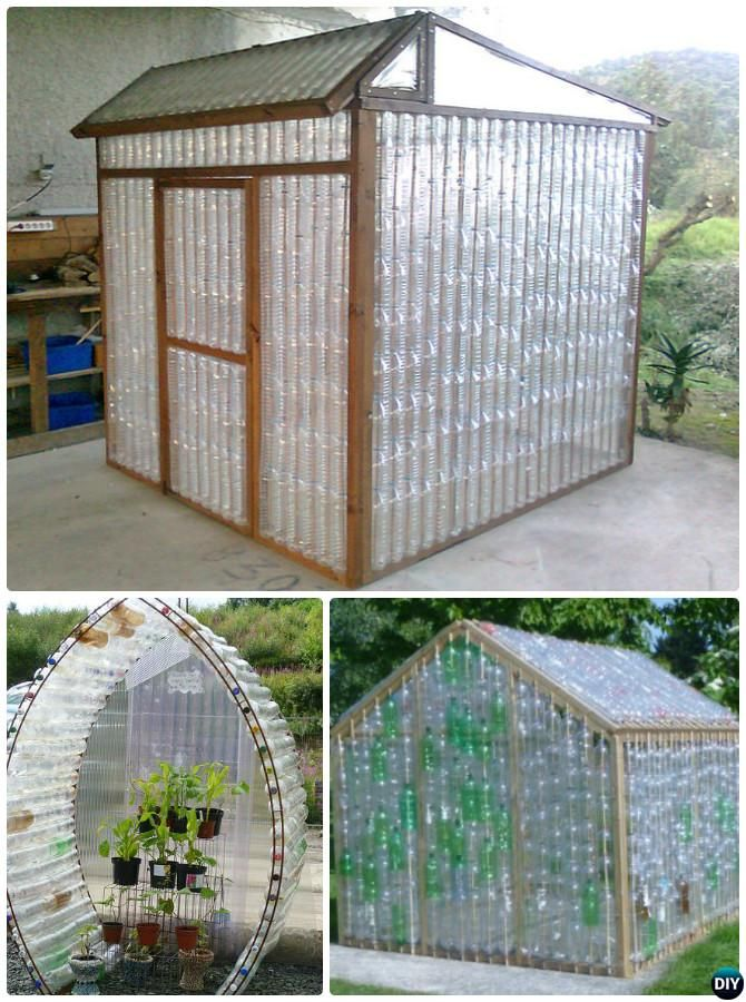 18 diy green house projects picture instructions diy for Homemade greenhouse plastic