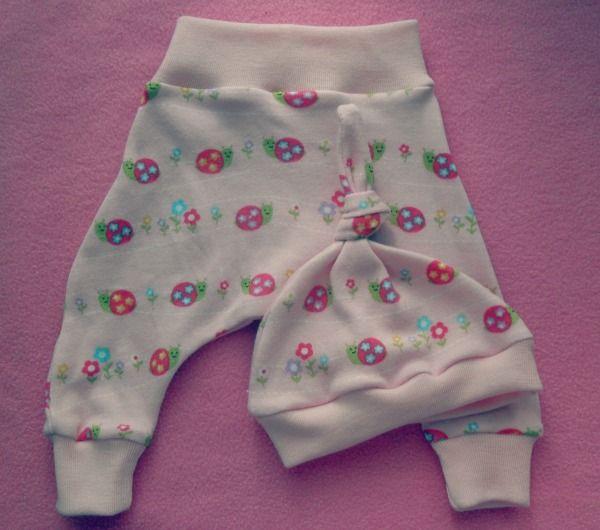 Cass Can Sew: Newborn Harem Pants and Knotted Newborn Hats ...