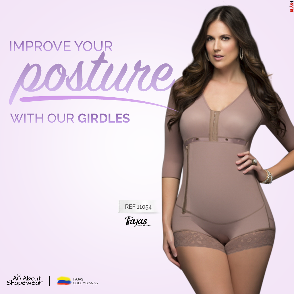 04c96c9f84e Our Long Sleeve Short Style Compression Garment for Dialy use with side  Zipper Fajas Dprada 11054