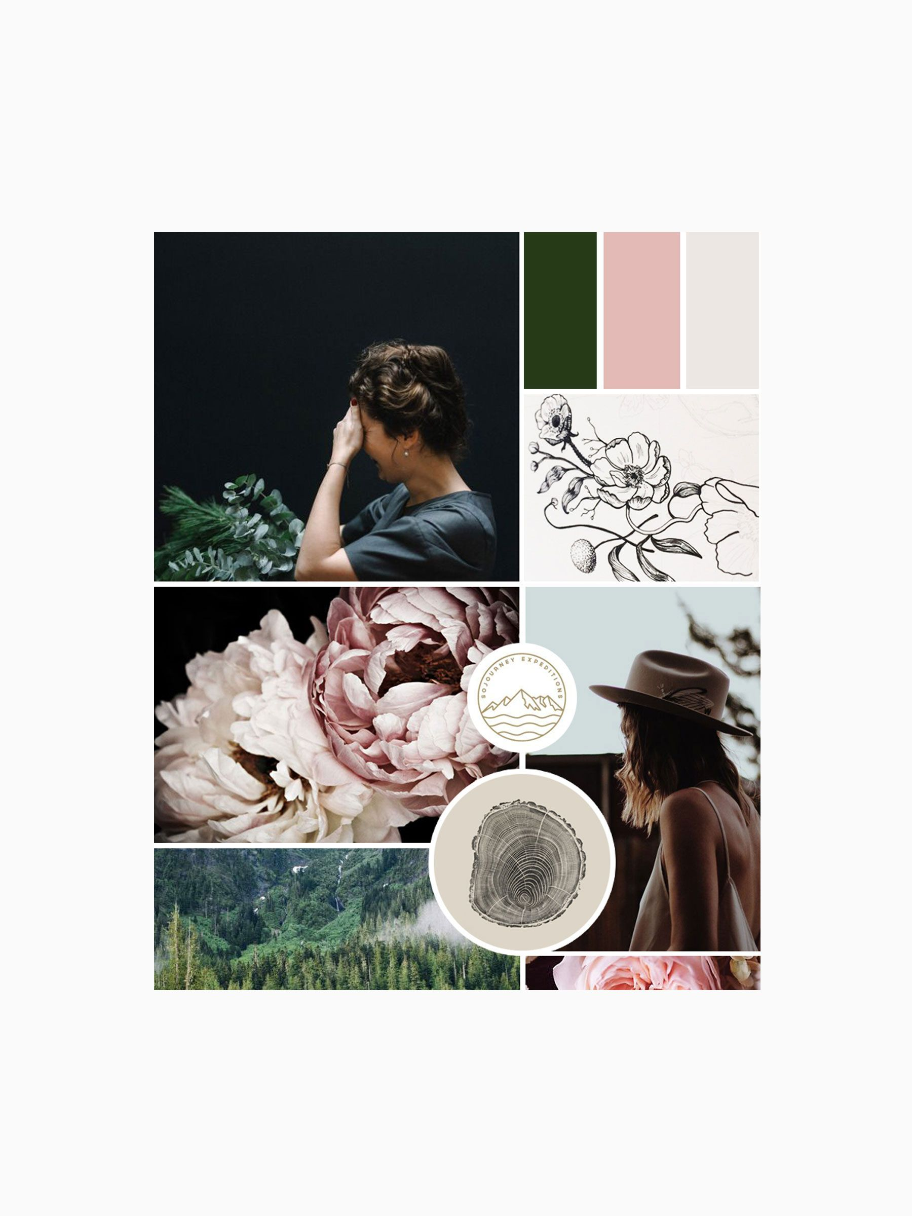 Jane in the Woods Branding Mood Board by Cocorrina [www.cocorrina.com]