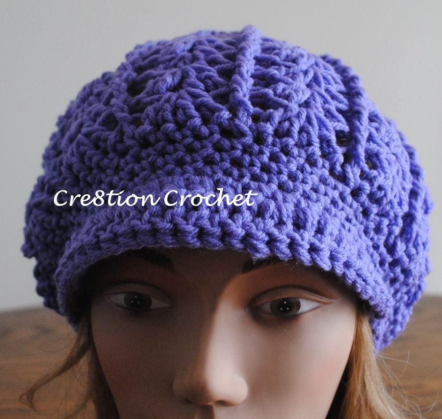 newsboy slouch free hat pattern | Crochet Hats | Pinterest | Comida