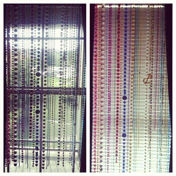 Repurposed Mardi Gras Beads As Window Decorations Mardi