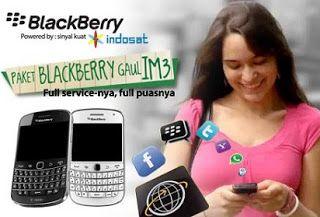 Cara Daftar Paket Blackberry Im3 Harian Mingguan Dan Bulanan Yang Murah Blackberry Penguatan Internet