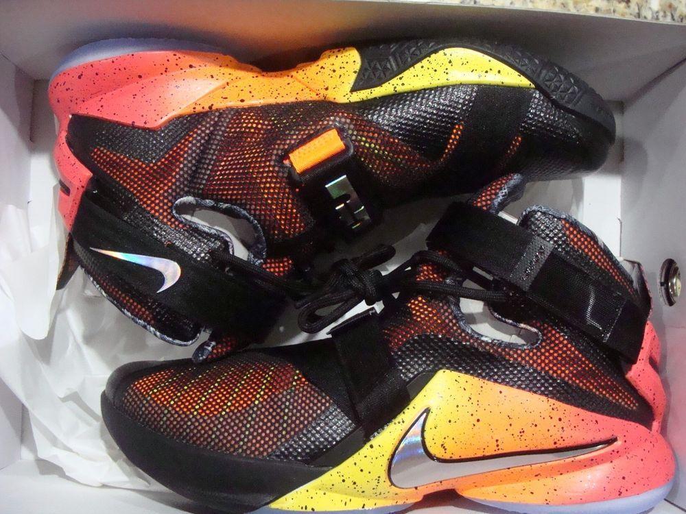 Nike Lebron Mens Basketball Shoes 810803-098 14 Black Orange