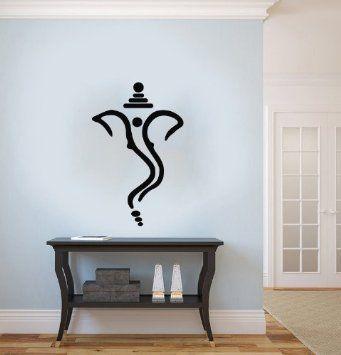 Ganesh Ganesha Elephant Lord Of Success Hindu Hand God Buddha Indian Design Wall Vinyl Decals Art Sticker Home Modern Stylish Interior Decor For Any Room