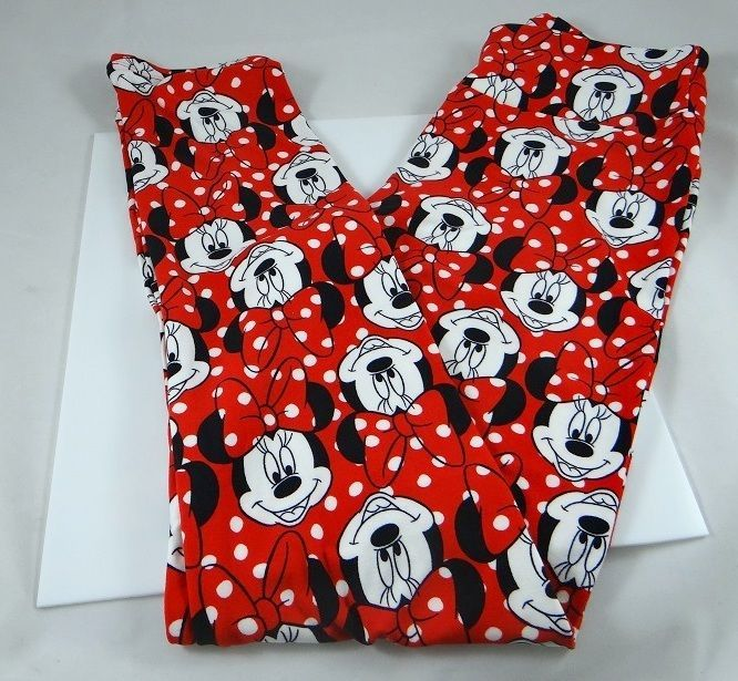 26959f3dc048a8 LULAROE DISNEY COLLECTION LEGGINGS OS UNICORN MINNIE MOUSE RED IN HAND ONE  SIZE #LuLaRoe