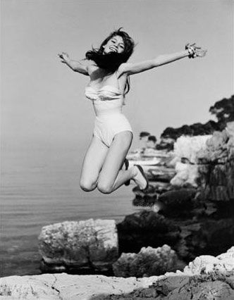 Image result for brigitte bardot jumping