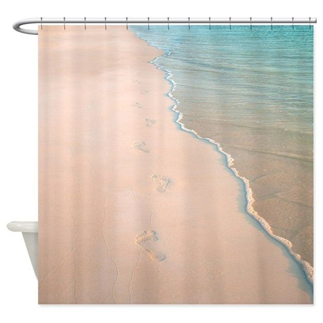 Beach Footprints Shower Curtains From Store Enhance Your Bathroom Decor Or Give