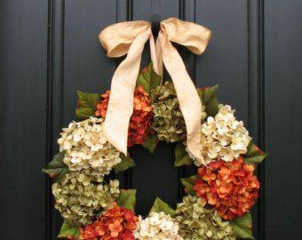 Fall Hydrangea Wreaths Front Door Wreaths Wreaths By Twoinspireyou